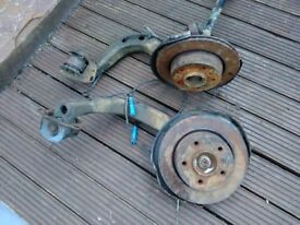 Bmw 3 series e46 rear hubs and brake discs
