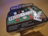 CARDINAL'S PROFESSIONAL TEXAS HOLD 'EM POKER SET. UNWANTED GIFT SEALED AND IN TIN BOX.