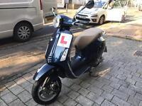 Vespa primavera 50cc midnight blue 2014 low mileage hpi clear!!