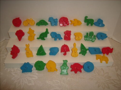 Wilton MUPPETS Sesame Street &  Alphabet Cookie Cutters Complete Set  1977 Mini