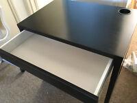 IKEA MICKE desk in black-brown