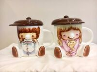 Lovely Couple Mugs with Lid