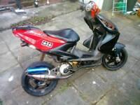 Yamaha Aerox 70cc reg as 50cc