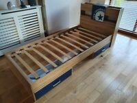 Oak and Navy Blue Kids Bedroom Furniture Set