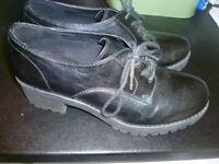 Deichmann Graceland chunky lace up shoes size 40/size 6
