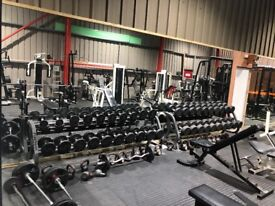 Full commercial working Gym for sale,everything must go as moving premises
