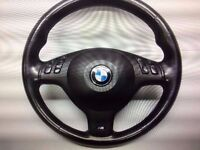 BMW-3-SERIES-E46-M-SPORT-MULTIFUNCTIONAL-STEERING-WHEEL-WITH-AIRBAG, Also other parts listed !