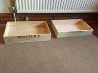 French 6 Bottle Large Wood Wooden Wine Crate Box (£9.99 each)
