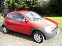 FORD KA 1-3 2006 (56 PLATE) BRIGHT RED, 1 LADY OWNER, 85,000 MILES, VAST SERVICE HISTORY, ANY TRIAL.