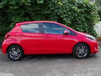 TOYOTA YARIS 1.3 VVT-I ICON M-DRIVE S 5d AUTO AUTOMATIC LOW MILEAGE FAMILY HATCHB (red) 2015