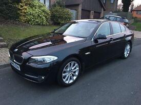 2010 BMW 520D SE AUTOMATIC, BLACK, TIPTRONIC, FULL SERVICE HISTORY