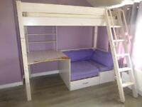 Thuka high sleeper with pull out guest bed