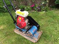 Wacker Errut plate compactor with Honda G100 petrol engine. Fully serviced engine