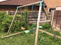 children Swing and Seesaw