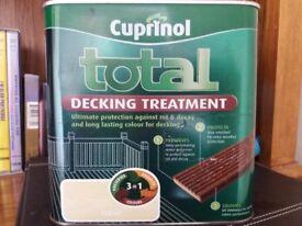 Unopened Cuprinol 2.5 litre Total Decking Treatment