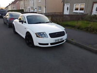 AUDI TT 1.8 QUATTRO, 180BHP, FULLY RESPRAYED WHITE AND RE-REGESTERED AS SUCH