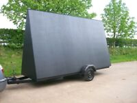 14ft x 8ft advertising trailer in very good condition