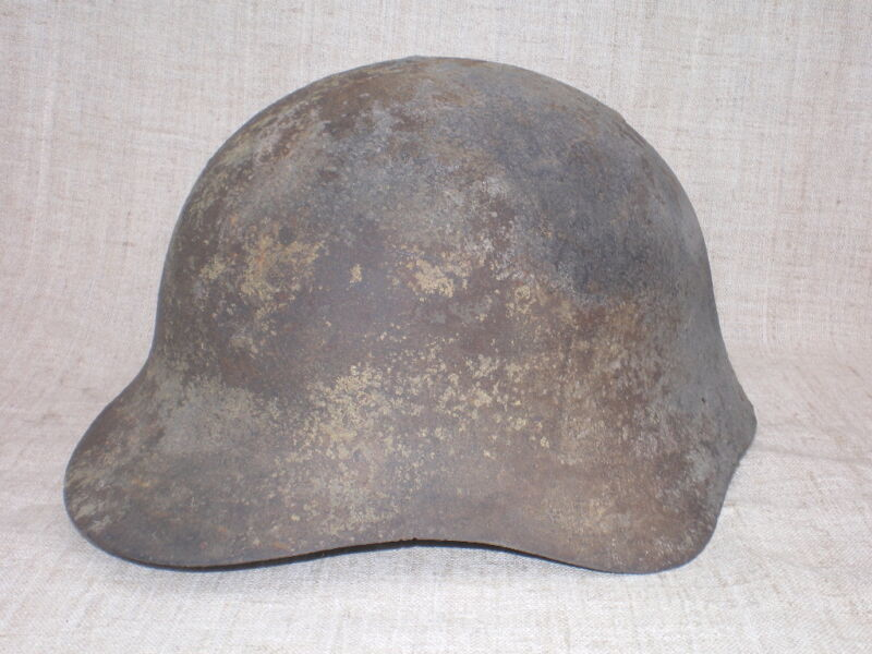 WWII Soviet Army (RKKA) M 36 (SSH 36) Helmet Battlefield Relic. Battle Damaged.