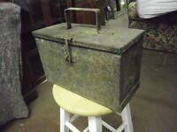 VINTAGE STEEL TOOL BOX