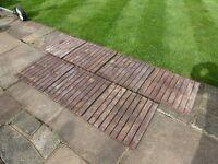 7 x wooden garden pot stands / flooring for green house?