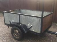 "6ft x 3ft 6"" Trailer With ladder rack"