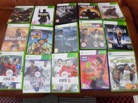 xbox 360 games 15 games for £50 only
