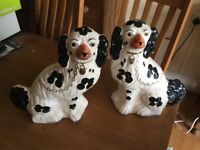 Nice pair of Woods wear china spaniels
