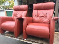 Parkerknoll reclining leather chairs