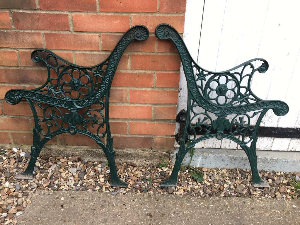 Outstanding Lion Head Garden Patio Cast Iron Bench Seat Ends Delivery Available In Tadley Hampshire Gumtree Machost Co Dining Chair Design Ideas Machostcouk