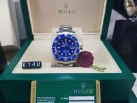 New boxed with papers silver bracelet blue dial blue ceramic bezel Rolex submariner watch Automatic
