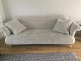 4 seater sofa / couch with or without footstool
