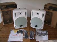 Behringer B208D Speakers white as new.