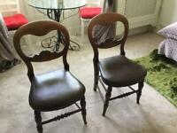 TWO VINTAGE BALLOON-BACK CHAIRS