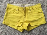 Demin Co. Yellow Hot Pants shorts Size 8 Paypal accept