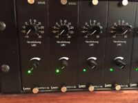 Vintage Lawo V970/1-74 Custom Preamps x8. Big, warm, punchy sound for drum kits and amps.