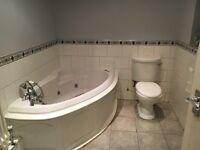 3 large bedroom 3 storie terrace house for sale with en suite in master room , garage, garden , fire