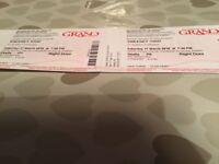 2 tickets for sweeney todd grand theatre Wolverhampton Saturday 17 th march 2018
