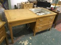 Desk rescued from a school in Caldicot