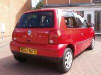 2002 VW Lupo 1.4 16v Red 2 Owners, MOT, Power Steering, not polo golf