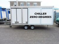 Portable Walk In Cold Room Chiller Room Trailer Outdoor Catering Mobile 0 Degrees