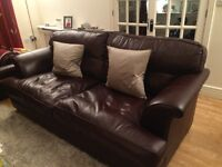3 Piece Leather Suite in Plum