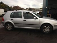VW GOLF Mk4 1.4 breaking for spares px Audi Vauxhall corsa Astra Renault Clio Ford ka Focus seat c3