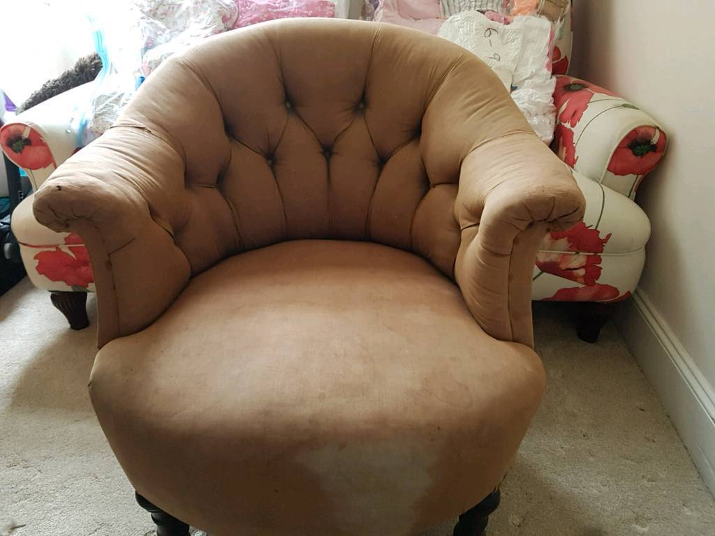 Beautiful armchair upcycle project
