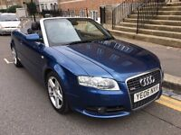 AUDI A4 1.8 TURBO S LINE CONVERTIBLE BLUE 2006 TIMING BELT+WATER PUMP CHANGED LEATHER SEATS, CAT D