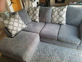 Grey corner sofa practically brand new