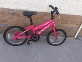 "Ridgeback girl pink bike 16"" wheels"