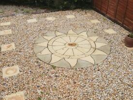 Sun Circle Paving Stone patio