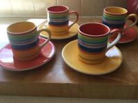 4 espresso cups and saucers. Collect Stamford Bridge