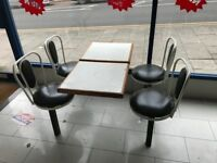 Restaurant / takeaway Seating 4 chairs and a table x 2