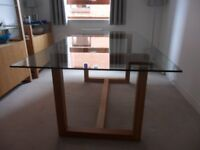 Marks & Spencer Colby Range Glass-topped Dining Table